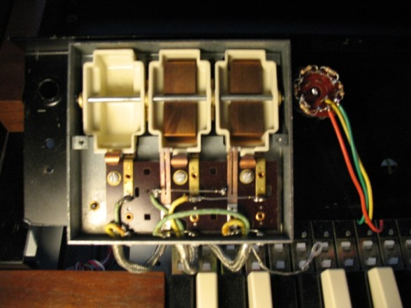 Hammond Super B Left Switches